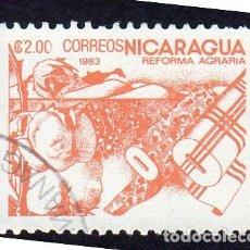 Sellos: AMÉRICA. NICARAGUA .REFORMA AGRARIA.YT1304. USADO SIN CHARNELA. Lote 253899885