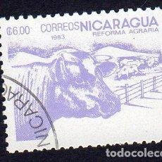 Sellos: AMÉRICA. NICARAGUA .REFORMA AGRARIA.YT1307. USADO SIN CHARNELA. Lote 253900790