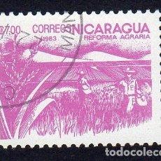Sellos: AMÉRICA. NICARAGUA .REFORMA AGRARIA.YT1308. USADO SIN CHARNELA. Lote 253901255