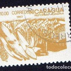 Sellos: AMÉRICA. NICARAGUA .REFORMA AGRARIA.YT1310. USADO SIN CHARNELA. Lote 253902120