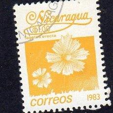 Sellos: AMÉRICA. NICARAGUA FLORES. TAGETES ERECTA..YT1387. USADO SIN CHARNELA. Lote 253902690