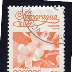 Sellos: AMÉRICA. NICARAGUA FLORES. PLUMERIA RUBRA..YT1396. USADO SIN CHARNELA. Lote 253903050