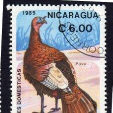 Sellos: AMÉRICA. NICARAGUA, AVES DOMÉSTICAS. PAVO..YT4376D. USADO SIN CHARNELA. Lote 253903705