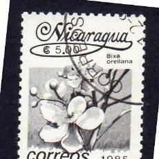 Sellos: AMÉRICA. NICARAGUA .FLORES. BIXA ORELLANA. .YT1401. USADO SIN CHARNELA. Lote 253904245