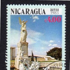 Sellos: AMÉRICA. NICARAGUA,MONUMENTO A RUBEN DARIO. MANAGUA.YTPA1019. USADO SIN CHARNELA. Lote 253905835