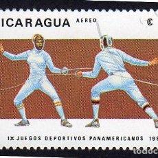 Sellos: AMÉRICA. NICARAGUA, IX JUEGOS DEPORTIVOS PARAMERICANOS..YTPA1027. USADO SIN CHARNELA. Lote 253907245