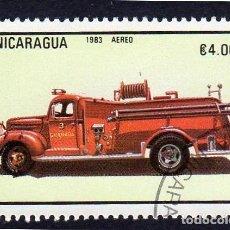 Sellos: AMÉRICA. NICARAGUA, CAMIÓN DE BOMBEROS..YTPA1044. USADO SIN CHARNELA. Lote 253908095