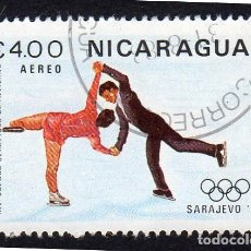 Sellos: AMÉRICA. NICARAGUA, OLIMPIADAS DE INVIERNO. SARAJEVO 84..YTPA1030. USADO SIN CHARNELA. Lote 253908635