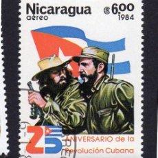 Sellos: AMÉRICA. NICARAGUA,25 ANV. REVOLUCIÓN CUBANA..YTPA1049. USADO SIN CHARNELA. Lote 253909090