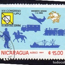 Sellos: AMÉRICA. NICARAGUA, XIX CONGRESO UPU..YTPA1068. USADO SIN CHARNELA. Lote 253909965