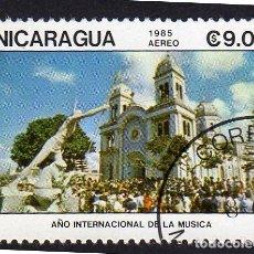 Sellos: AMÉRICA. NICARAGUA, AÑO INTERNACIONAL DE LA MÚSICA..YTPA1113. USADO SIN CHARNELA. Lote 253910430