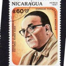 Sellos: AMÉRICA. NICARAGUA,. INDEPENDENCIA CULTURA RUBÉN DARÍO. ENRIQUE FERNÁNDEZ. YTPA1190. USAD. Lote 253911475