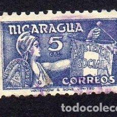 Sellos: AMÉRICA. NICARAGUA,. ASISTENCIA SOCIAL,.YT796A. USADO SIN CHARNELA. Lote 253951580