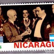 Sellos: AMÉRICA. NICARAGUA,. COPA MUNDIAL. MOMENTOS DE GLORIA,.YT953. USADO SIN CHARNELA. Lote 253951730