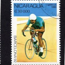 Sellos: AMÉRICA. NICARAGUA,. BARCELONA 92,.YT1535. USADO SIN CHARNELA. Lote 253952370