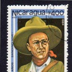 Sellos: AMÉRICA. NICARAGUA,50 ANV. DE LA MUERTE DE SANDINO VIVE..YTPA1055. USADO SIN CHARNELA. Lote 253952465