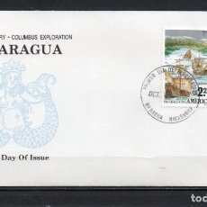 Francobolli: FDC, SOBRE DE PRIMER DÍA DE EMISIÓN DE NICARAGUA -AMÉRICA UPAEP-, AÑO 1991. Lote 255394150