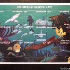 Sellos: NICARAGUA YVERT 2214/22 SERIE COMPLETA NUEVA *** 1996 FAUNA MARINA. PECES PEDIDO MÍNIMO 3€. Lote 262608070