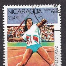 Sellos: NICARAGUA, 1990 , MICHEL 2993. Lote 262986360