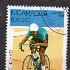 Sellos: NICARAGUA, 1990 , MICHEL 2998. Lote 262986455