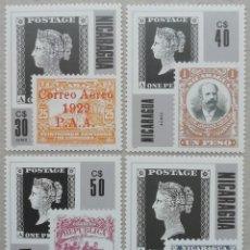 Sellos: 1986. NICARAGUA. A1139-A. 1142. CENTENARIO DEL SELLO. SERIE COMPLETA. MAGNÍFICA. NUEVO.. Lote 266720423