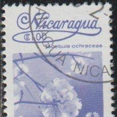 Sellos: NICARAGUA 1983 SCOTT 1221 SELLO * FLORA FLORES ORQUIDEAS TABEBUIA OCHRACEAE MICHEL 2359 YVERT 1262. Lote 268815299
