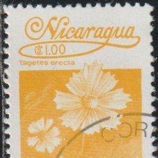 Sellos: NICARAGUA 1983 SCOTT 1222 SELLO * FLORA FLORES ORQUIDEAS TAGETES ERECTA MICHEL 2355 YVERT 1249 STAMP. Lote 268815654