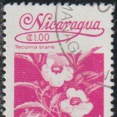 Sellos: NICARAGUA 1983 SCOTT 1223 SELLO * FLORA FLORES ORQUIDEAS TECOMA STANS MICHEL 2356 YVERT 1253 STAMPS. Lote 268815704