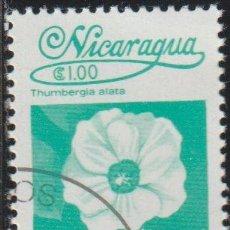 Sellos: NICARAGUA 1983 SCOTT 1224 SELLO * FLORA FLORES ORQUIDEAS THUMBERGIA ALATA MICHEL 2361 YVERT 1261. Lote 268815809