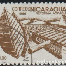 Sellos: NICARAGUA 1986 SCOTT 1531 SELLO * FLORA REFORMA AGRARIA TABACO MICHEL 2668 YVERT 1411 STAMPS TIMBRE. Lote 268817939