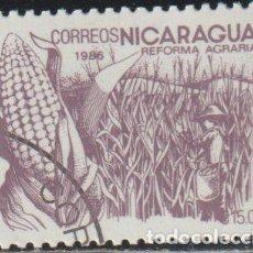 Sellos: NICARAGUA 1986 SCOTT 1533 SELLO * FLORA REFORMA AGRARIA MAIZ MICHEL 2670 YVERT 1413 STAMPS TIMBRE. Lote 268818109