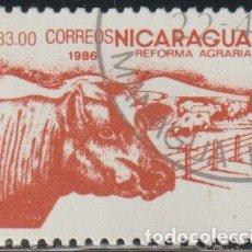 Sellos: NICARAGUA 1986 SCOTT 1535 SELLO * FLORA REFORMA AGRARIA VACAS GANADO MICHEL 2672 YVERT 1415 STAMPS. Lote 268818169