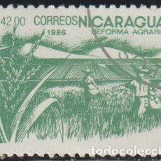 Sellos: NICARAGUA 1986 SCOTT 1536 SELLO * FLORA REFORMA AGRARIA CULTIVO DE ARROZ MICHEL 2673 YVERT 1416. Lote 268818289