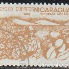Sellos: NICARAGUA 1986 SCOTT 1537 SELLO * FLORA REFORMA AGRARIA PLANTACION DE CAFE MICHEL 2674 YVERT 1417. Lote 268818359
