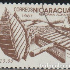 Sellos: NICARAGUA 1987 SCOTT 1608 SELLO * FLORA REFORMA AGRARIA TABACO MICHEL 2766 YVERT 1451 STAMPS TIMBRE. Lote 268818734