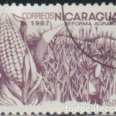 Sellos: NICARAGUA 1987 SCOTT 1610 SELLO * FLORA REFORMA AGRARIA MAIZ MICHEL 2768 YVERT 1453 STAMPS TIMBRE. Lote 268818759