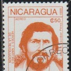 Sellos: NICARAGUA 1988 SCOTT 1739 SELLO * PERSONAJES REVOLUCION JOSE B. ESCOBAR PEREZ MICHEL 2907 YV. PA1251. Lote 268818959