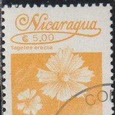 Sellos: NICARAGUA 1986 SCOTT 1528 SELLO * FLORA FLORES TAGETES ERECTA CLAVELON MICHEL 2653 YVERT 1387 STAMPS. Lote 268819519