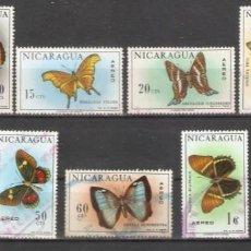 Sellos: NICARAGUA. 1967.AÉREO. FAUNA . MARIPOSAS.. Lote 280695318
