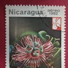 Sellos: NICARAGUA 1982. PASSIFLORA FOETIDA MI:NI 2332,. Lote 288413073