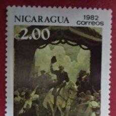 Sellos: NICARAGUA 1982. GEORGE WASHINGTON, 250 ANIVERSARIO DEL NACIMIENTO.. MI:NI 2287,. Lote 288413568