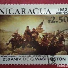 Sellos: NICARAGUA 1982. GEORGE WASHINGTON, 250 ANIVERSARIO DEL NACIMIENTO.. MI:NI 2288,. Lote 288413883