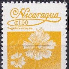 Sellos: NICARAGUA 1983. TAGETES ERECTA. MI:NI 2355,. Lote 288554008