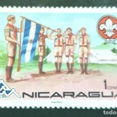 Sellos: MICHEL NI 1869 - NICARAGUA - BANDERAS   MOVIMIENTO SCOUT - 1975. Lote 288604933