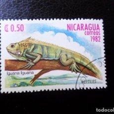 Sellos: *NICARAGUA, 1982, FAUNA, IGUANA, YVERT 1229. Lote 288971673