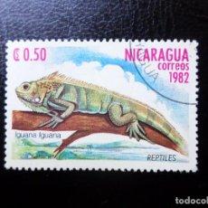 Sellos: *NICARAGUA, 1982, FAUNA, IGUANA, YVERT 1229. Lote 288971883