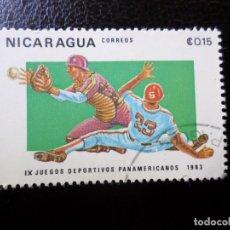 Sellos: *NICARAGUA, 1983, 9 JUEGOS PANAMERICANOS, YVERT 1271. Lote 288972968