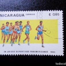 Sellos: *NICARAGUA, 1983, 9 JUEGOS PANAMERICANOS, YVERT 1273. Lote 288973178