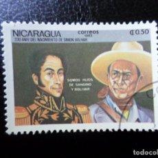Sellos: *NICARAGUA, 1983, BICENTENARIO DE SIMON BOLIVAR, YVERT 1280. Lote 288973643