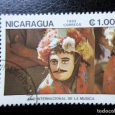 Sellos: *NICARAGUA, 1985, AÑO INTERNACIONAL DE LA MUSICA, YVERT 1377. Lote 288974368